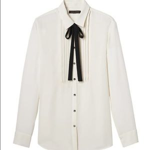 BR Dillon Classic-Fit Soft Tuxedo Shirt with Tie